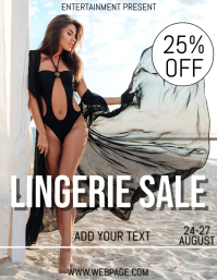 Lingerie sale flyer template