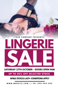 Lingerie Sale Poster template
