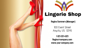 Lingerie Shop Business Card