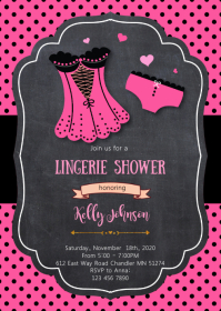 Lingerie shower party invitation