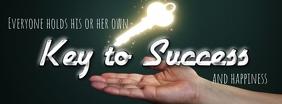 SUCCESS linkedin banner Foto Sampul Facebook template