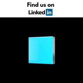 LinkedIn video template Quadrato (1:1)
