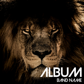 Lion Album cover flyer template
