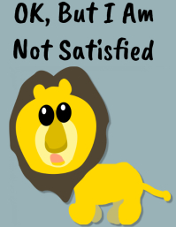 Lion Funny Poster