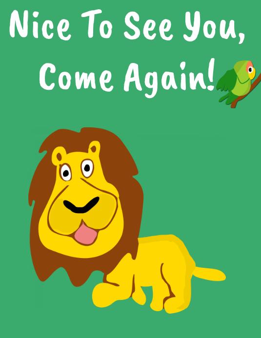 Lion Good Bye Poster