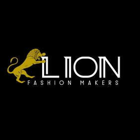 lion logo gold and white