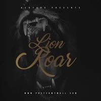 Lion Roar Mixtape CD Cover Art Template