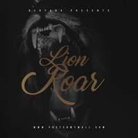 Lion Roar Mixtape CD Cover Art Template