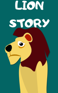 Lion story book cover