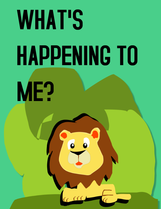 Lion story Flyer (Letter pang-US) template