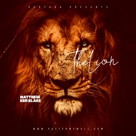 Lion the mixtape cd cover art template