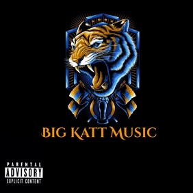 Lion tiger cat music cd logo template