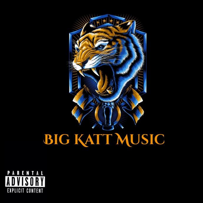 Lion tiger cat music cd logo template