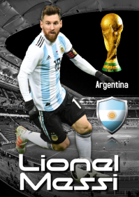 Lionel Messi Poster A2 template