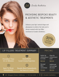 Lip Filling Service Poster