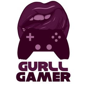 Lips Gamepad Girl Gamer Logo Ilogo template