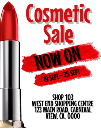 Lipstick / Cosmetic Sale Flyer Template