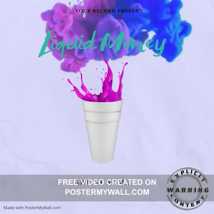 Liquid MoneyMixtape/Album Cover Art template