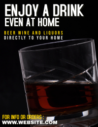 liquors beer wine home delivery advertisement