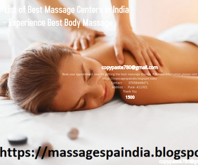 List of Best Massage Centers in India – Exp