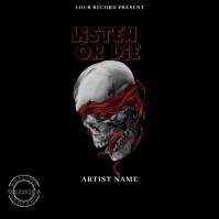 listen or die Hip Hop Mixtape/Album Cover Art Okładka albumu template