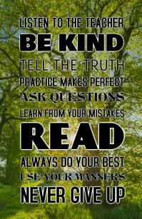 LISTEN TO THE TEACHER Tabloid template