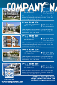 Multiple listing flyer for real estate company - Blue