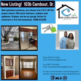 listing simple flyer