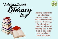 Literacy Day Label template
