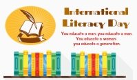 Literacy Day Tag template