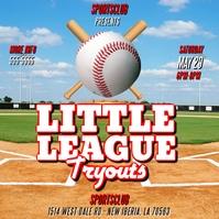 LITTLE LEAGUE BASEBALL GAME FLYER TEMPLATE Album Cover