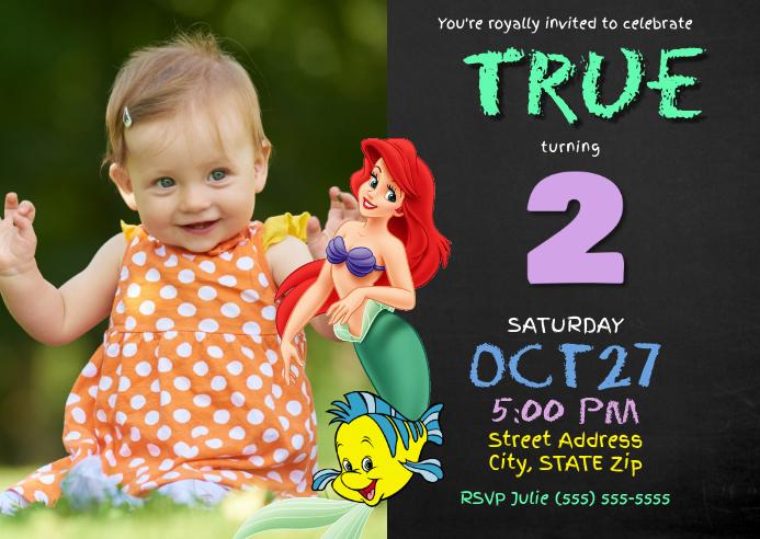 Little Mermaid Birthday Invitation Template Postermywall