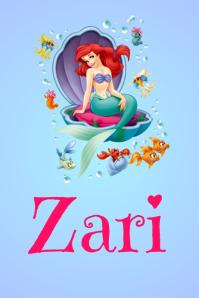 Little Mermaid Name Poster