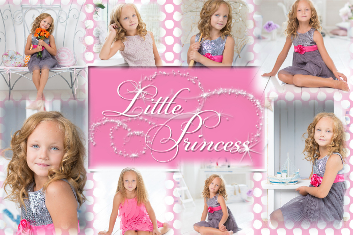 Little Princess Photo Memory Collage Poster Flyer Family