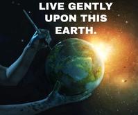 LIVE AND EARTH QUOTE TEMPLATE Retângulo grande