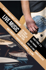 Live Band Concert Poster Template