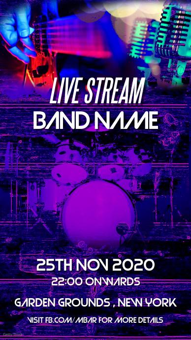 Live Band เรื่องราวบน Instagram template
