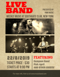 Concertband flyer templates postermywall live band music concert poster template maxwellsz