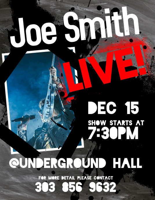 Live Band Flyer