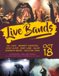 Live Bands Flyer