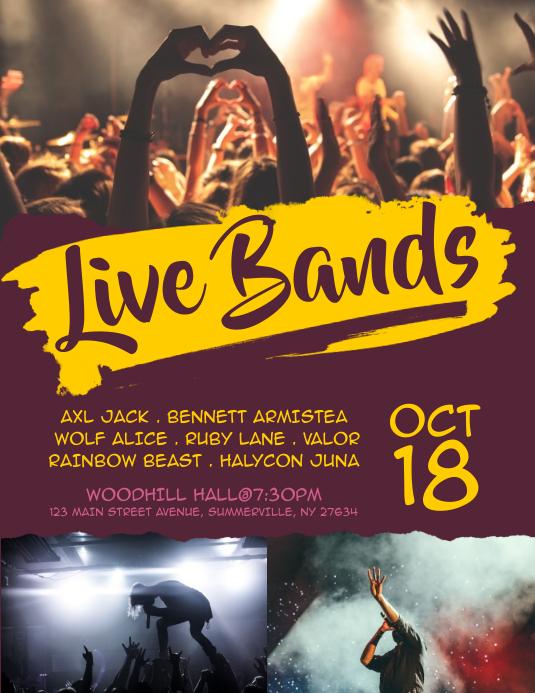 Live Bands Flyer