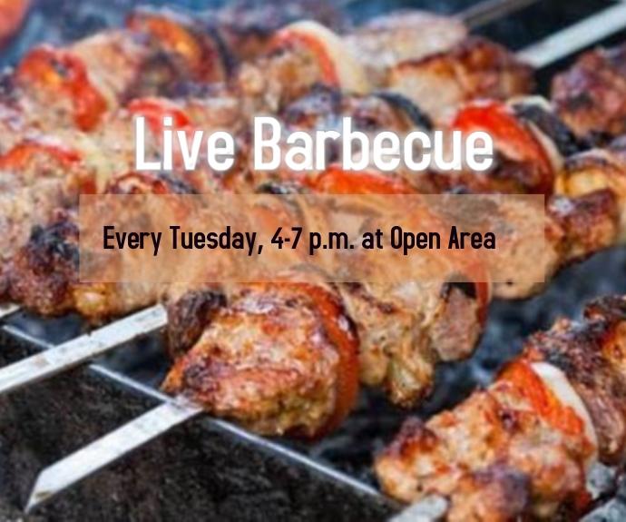 Live Barbecue Mellemstort rektangel template