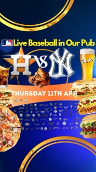 Live Baseball Game in Pub