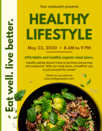 Live Better Healthy Lifestyle Restaurant Flye Flyer (format US Letter) template