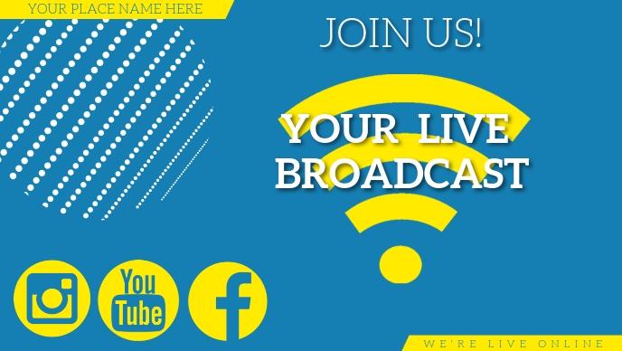 LIVE BROADCAST EVENT FACEBOOK AD template Facebook-covervideo (16:9)