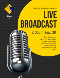 Live Broadcast Flyer