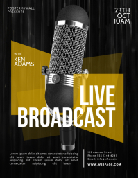 Live Broadcast Flyer Template