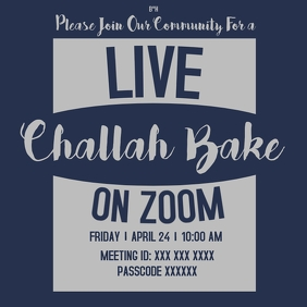 Live Challah Bake on Zoom