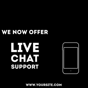 Live chat support animation video