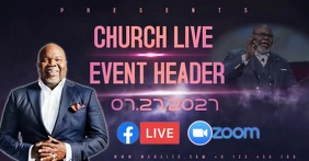 LIVE CHURCH EVENT AD SOCIAL MEDIA TEMPLATE Facebook Shared Image